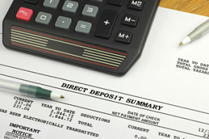 if you're still receiving a paper paycheck from your employer, consider getting your paycheck directly deposited into your checking account electronically