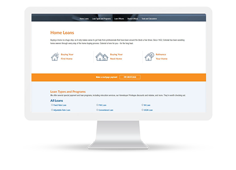 Our recently launched website merges all of Colonial's industry-leading and award winning banking, home loan and insurance products into one convenient site. Did we mention that it's mobile-friendly?