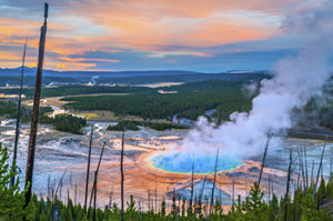 An outdoor enthusiast's paradise, Yellowstone offers dozens of diverse activities like camping, hiking, boating, bicycling, snowmobiling, skiing, fishing and more.
