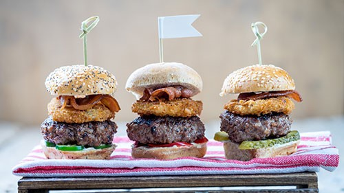 While conventional logic holds that your burger is accompanied by ketchup, mustard, onion, lettuce, tomato and pickle, there is great possibility for boldness in burger-making by selecting more unusual fare.